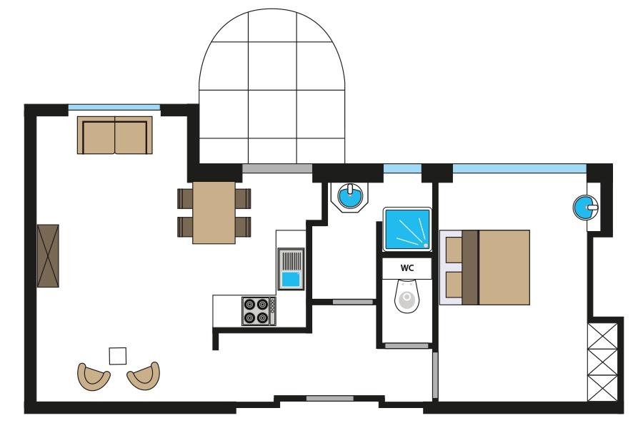 Premium-Apartment-met-1-slaapkamer-44230