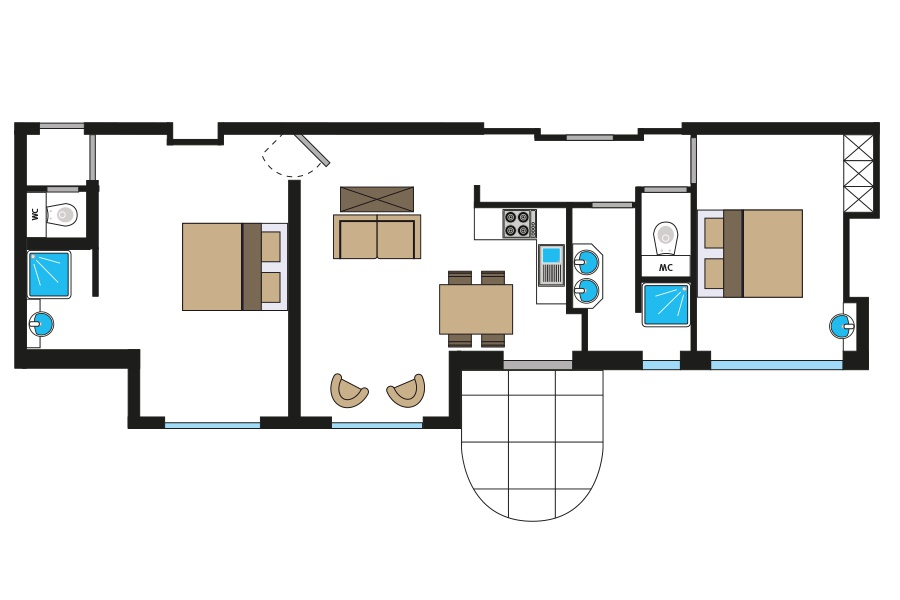 Riviera-Maison-Master-Suite-met-2-slaapkamers-45507